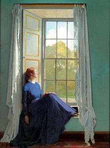 William Newenham Montague Orpen - El asiento de la ventana