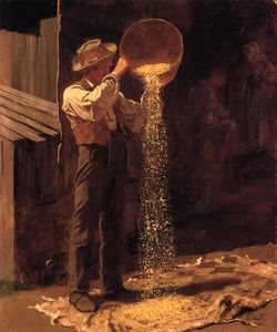Jonathan Eastman Johnson - Grano aventar