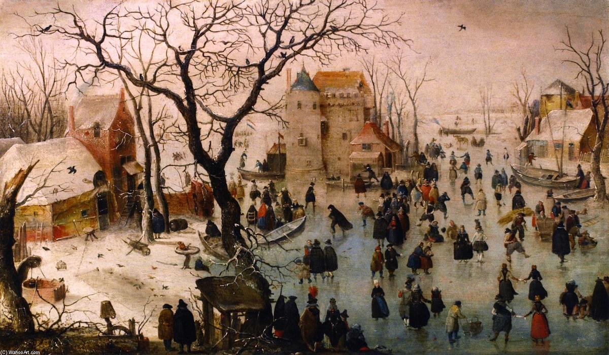 LA CATEDRAL DE FRAIGUILLERMO de BASKERVILLE - Página 3 Hendrick-Avercamp-Winter-Landscape-with-a-Castle