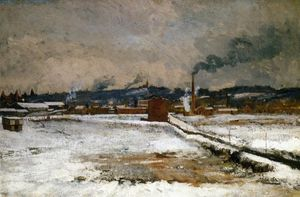 John Henry Twachtman - Invierno, Mill Creek Valley, Cincinnati