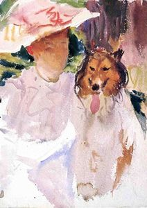 John Singer Sargent - Mujer con Collie