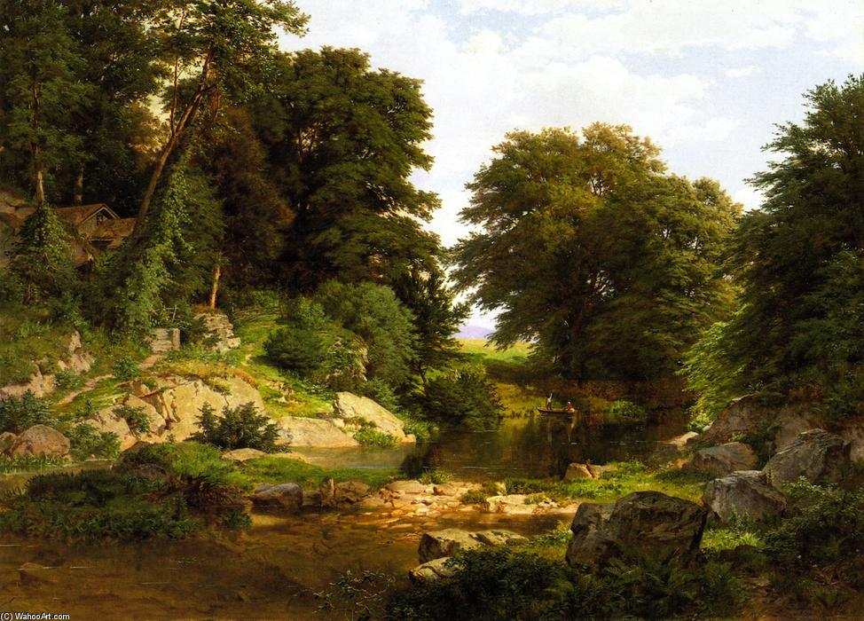 Woodland Brook, 1861 de William Trost Richards (1833-1905, United States) | Arte De La Reproducción | WahooArt.com