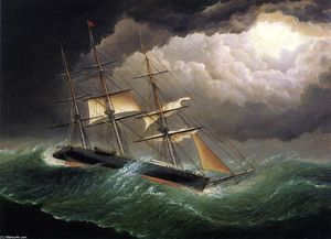James Edward Buttersworth - El Young America en una tormenta
