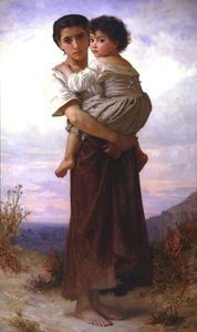 William Adolphe Bouguereau - joven gitanos