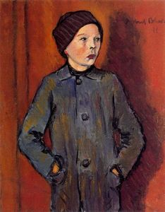 Albert Bloch - retrato de un niño
