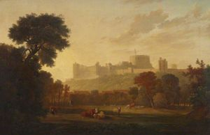 George Barret The Elder - Un lejano  aspecto  todaclasede  Castillo De Windsor