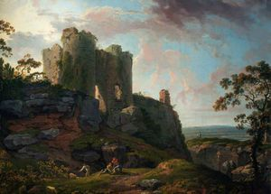 George Barret The Elder - Castillo de Beeston, Cheshire