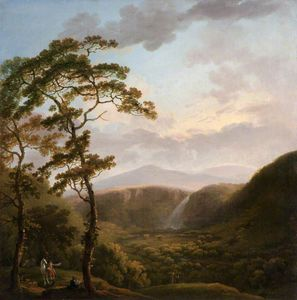 George Barret The Elder - cascada en el Powerscourt
