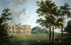 George Barret The Elder - West Frente De Burton Constable