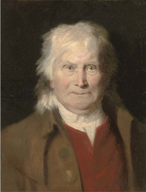 retrato de un hombre mayor , Bust-length en un Rojo Waist-coat y marrón Abrigo de Jacques Laurent Agasse (1767-1849, Switzerland) | Reproducciones De Bellas Artes Jacques Laurent Agasse | WahooArt.com