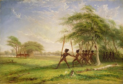 Reunión con los nativos hostiles de Thomas Baines (1820-1875, United Kingdom)