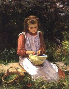 William Banks Fortescue - Pelar guisantes