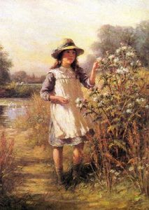 William Kay Blacklock - chica con una Cardo