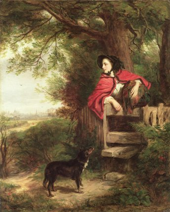 Un sueños  todaclasede  el  entrante  -   de William Powell Frith (1819-1909, United Kingdom)