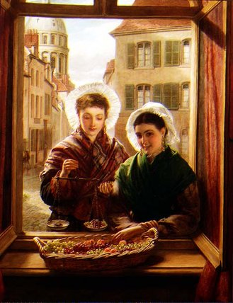 en mi Ventana , Boulogne de William Powell Frith (1819-1909, United Kingdom)