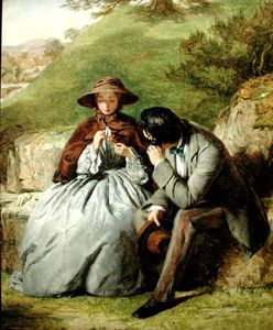 William Powell Frith - Los amantes -