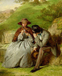 William Powell Frith - Los amantes