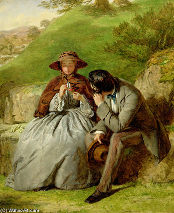 Los amantes de William Powell Frith (1819-1909, United Kingdom)