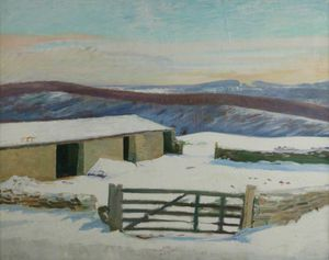 William Rothenstein - Iles- Granja , De invierno