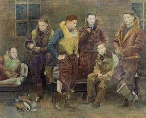 William Rothenstein - Desconocido tripulación del bombardero