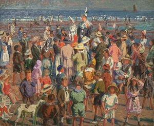 William Samuel Horton - Perforar en la playa en Broadstairs