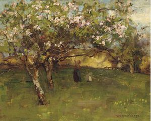 William Stewart Macgeorge - En The Orchard