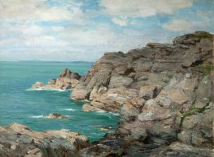 William Stewart Macgeorge - Costa costa rocosa
