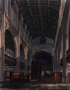 William Westall - interior San . Mary-s Iglesia , Cambridge