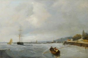 John Sell Cotman - Southend , pier colina