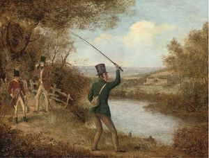 Samuel John Egbert Jones - Un Fly-fisherman Fundición Un Volar