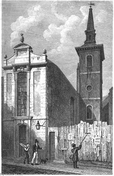 iglesia de san calle mildred pan  de Thomas Hosmer Shepherd (1792-1864, United Kingdom) | WahooArt.com