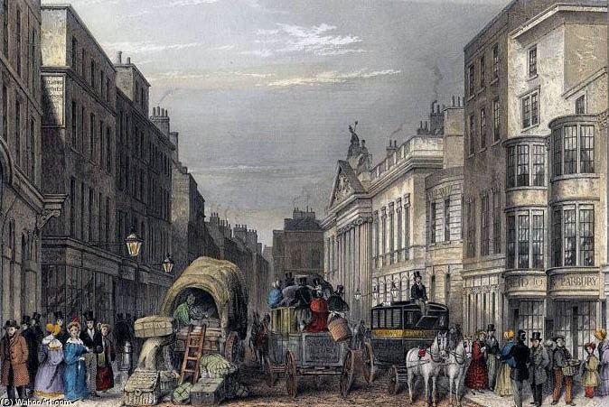 calle de leadenhall j hopkins de Thomas Hosmer Shepherd (1792-1864, United Kingdom)