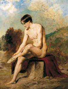 William Etty - Un Bañista