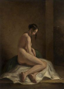 William Etty - desnudo femenino estudio