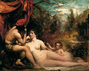 William Etty - flores todaclasede  el  bosque