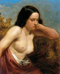 William Etty - cabeza y `shoulders` de un mujer