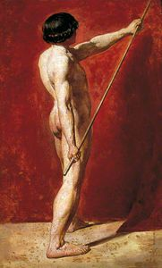 William Etty - Desnudo masculino enestado  personal