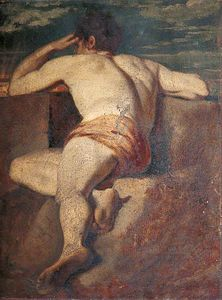 William Etty - Desnudo masculino