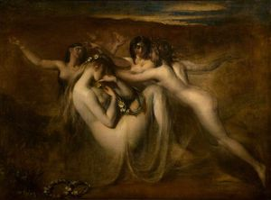 William Etty - Sabrina y ella Ninfas