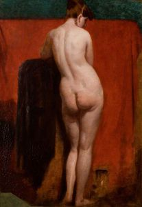 William Etty - de pie desnudo femenino -