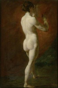 William Etty - de pie desnudo femenino visto  de  atrás