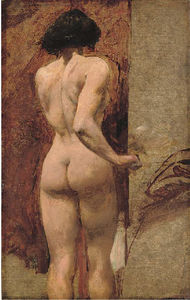 William Etty - estudio de a desnudo femenino -
