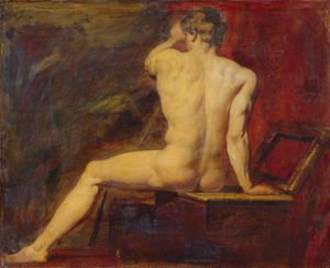 William Etty - estudio de masculino  desnuda