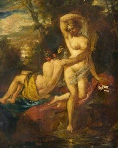 William Etty - el bañistas