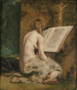 William Etty - La Magdalena penitente