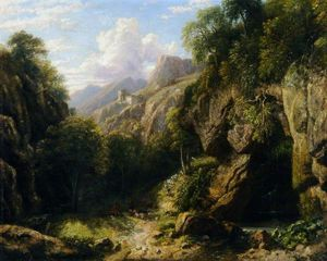 William Havell - montaña pasar cerca de subiaco , Romano Estados