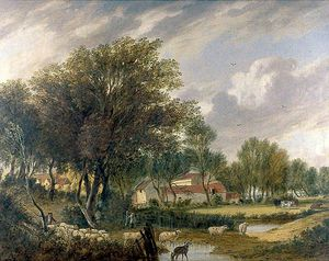 Alfred Stannard - trowse old hall , cerca de norwich