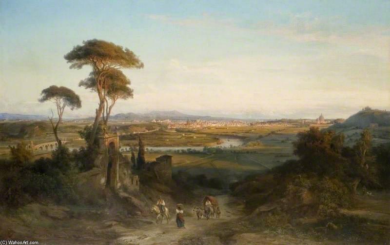 Una vista distante de Roma de George Edwards Hering (1805-1879, United Kingdom)