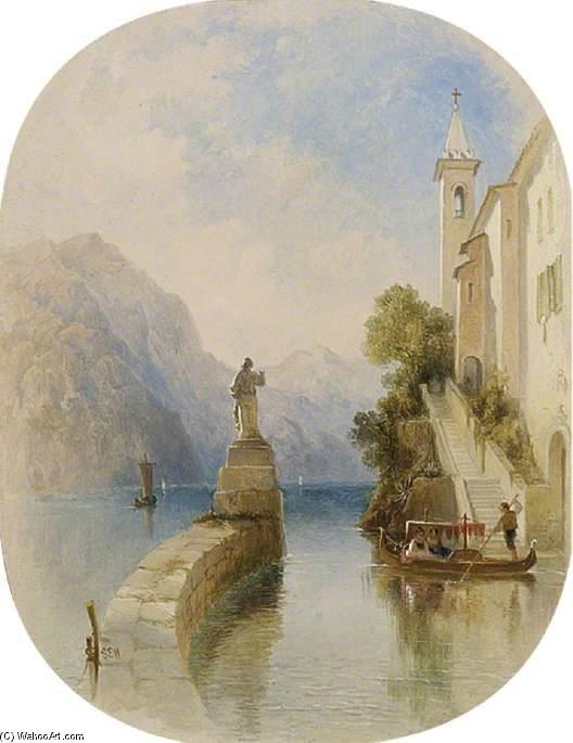 Una visión en los lagos italianos de George Edwards Hering (1805-1879, United Kingdom)
