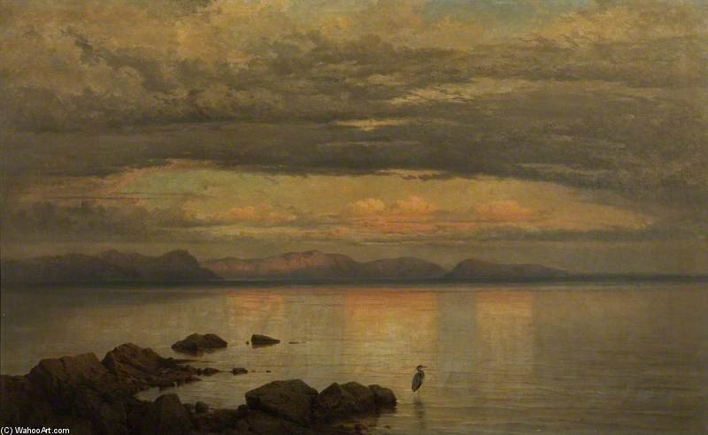 Mirando hacia el este en la puesta de George Edwards Hering (1805-1879, United Kingdom)